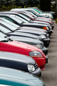 Used cars at auto dealers. used car trade